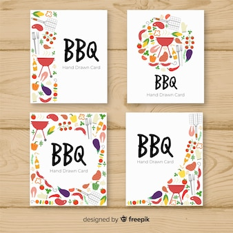 Collection de cartes de barbecue