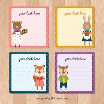 Collection de cartes avec de beaux animaux