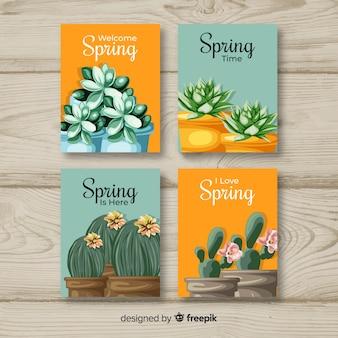 Collection de cartes de bienvenue