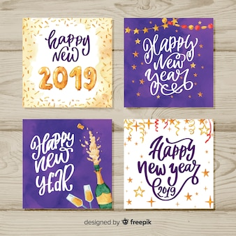 Collection de cartes de bonne année 2019