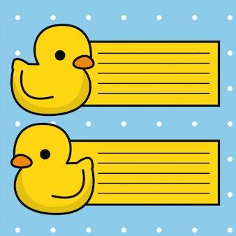 Collection de cartes de canard mignonne