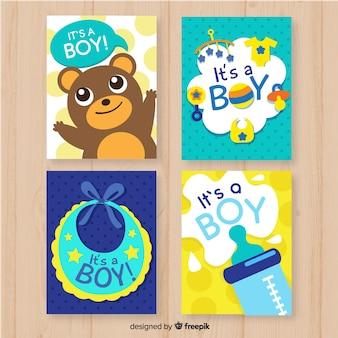 Collection de cartes de douche de bébé