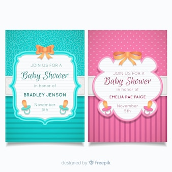 Collection de cartes de douche de bébé