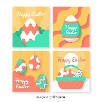 Collection de cartes du jour de pâques