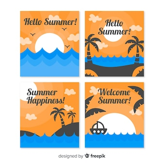 Collection de cartes d'été
