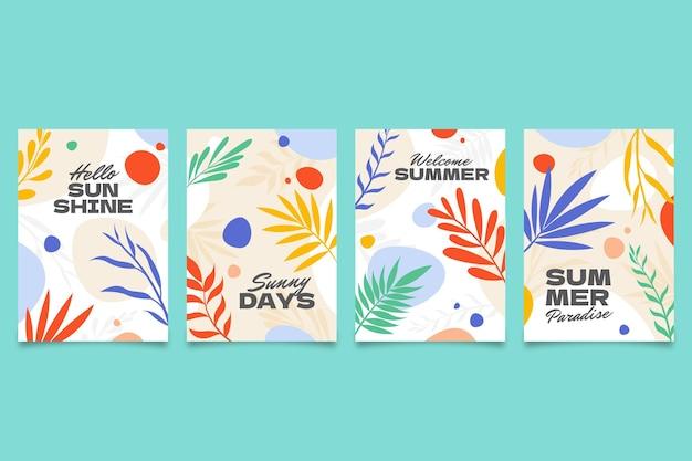 Collection de cartes d'été