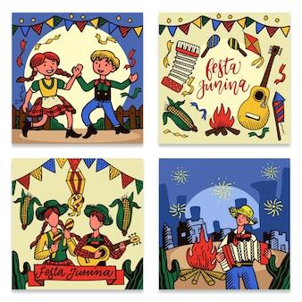 Collection de cartes festa junina