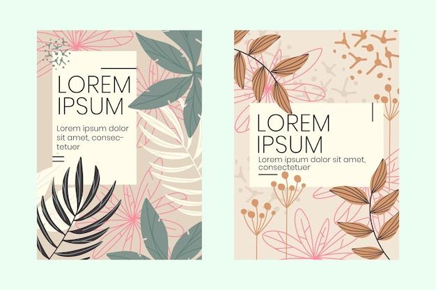 Collection de cartes florales