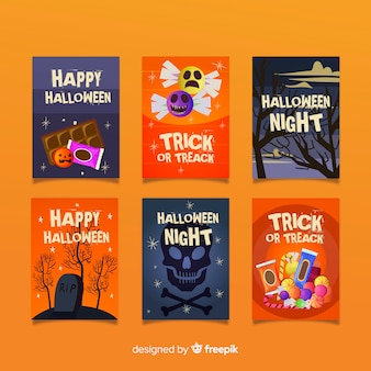 Collection de cartes halloween effrayant