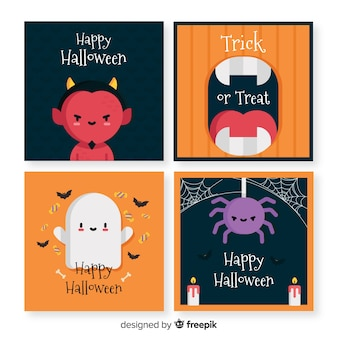 Collection de cartes d'halloween