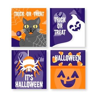 Collection de cartes d'halloween