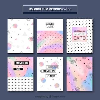 Collection de cartes holmatiques memphis