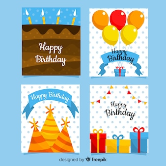 Collection de cartes d'invitation anniversaire