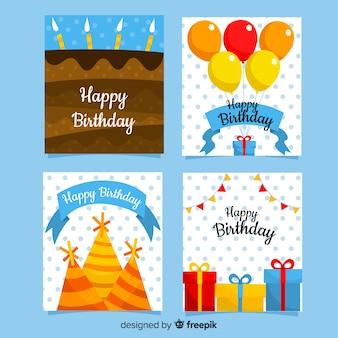 Collection de cartes d'invitation anniversaire