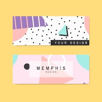 Collection de cartes à motif memphis