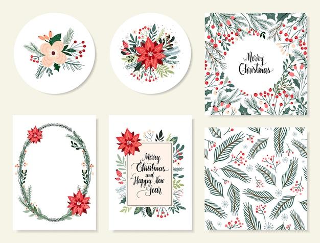 Collection de cartes de noël et du nouvel an