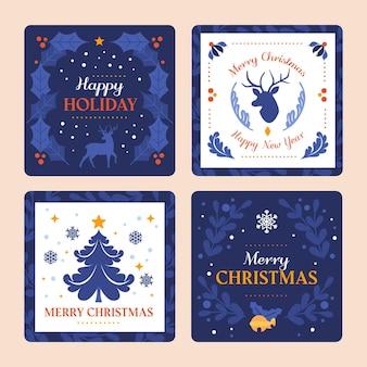 Collection de cartes de noël ornementales