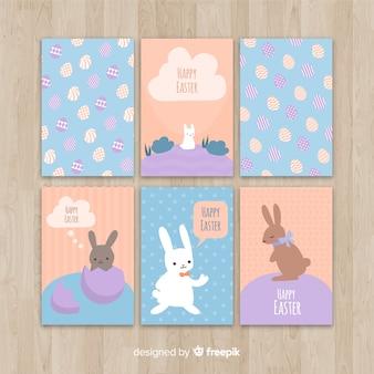 Collection de cartes de pâques simple