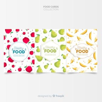 Collection de cartes plats