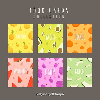 Collection de cartes plats