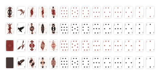 Collection de cartes de poker
