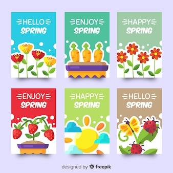 Collection de cartes de printemps
