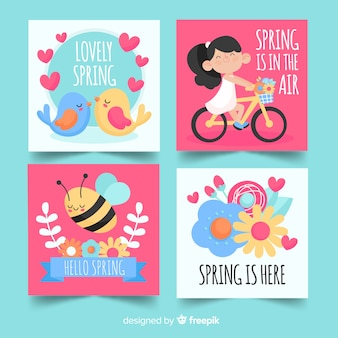 Collection de cartes de printemps