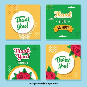 Collection de cartes de remerciement floral