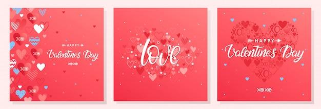 Collection de cartes de saint valentin créatives