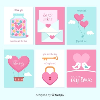 Collection de cartes de saint valentin