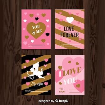 Collection de cartes de la saint-valentin