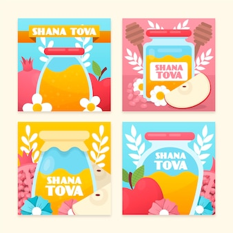 Collection de cartes shana tova