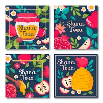 Collection de cartes shana tova