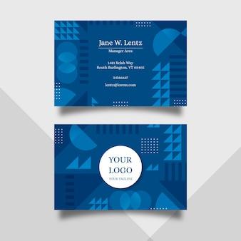 Collection de cartes de visite abstrait modèle bleu classique