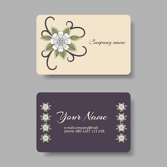 Collection de cartes de visite florales