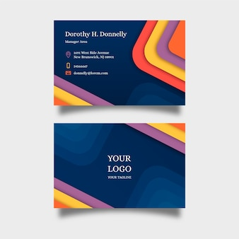 Collection de cartes de visite de modèle abstrait