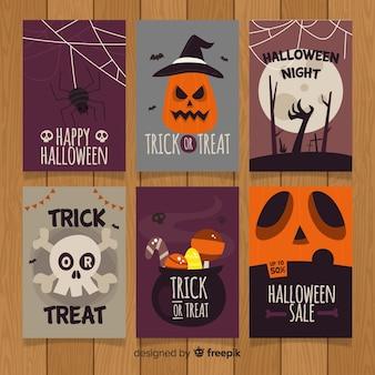 Collection de cartes de voeux halloween