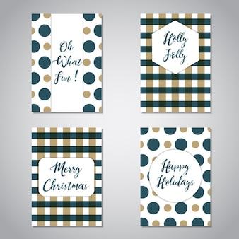 Collection de cartes de vœux de noël