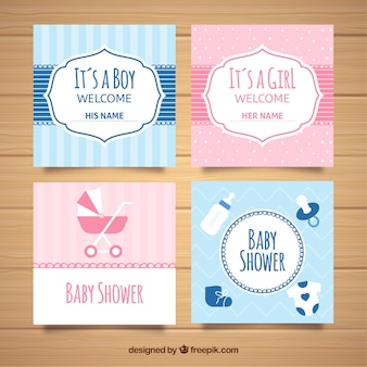 Collection de cartes de voeux pour baby shower