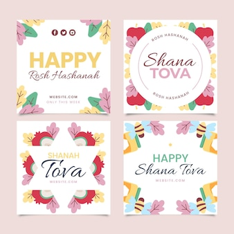 Collection de cartes de voeux shana tova
