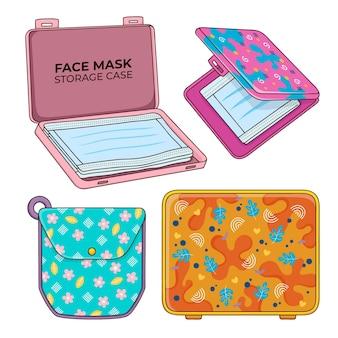 Collection de cas de stockage de masque facial