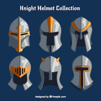 Collection de casques d'armure