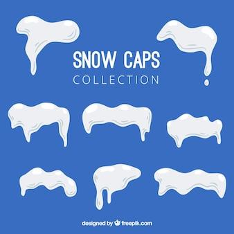 Collection de casquettes de neige
