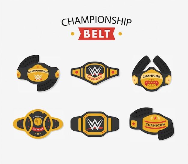 Collection de ceinture de championnat