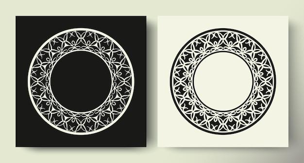 Collection de cercle de modèle d'ornement