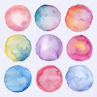 Collection de cercles d'aquarelle