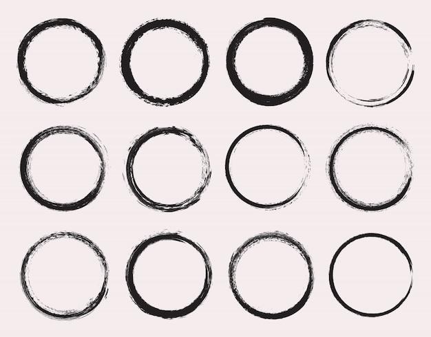 Collection de cercles grunge