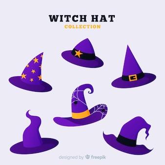 Collection de chapeau de sorcière d'halloween