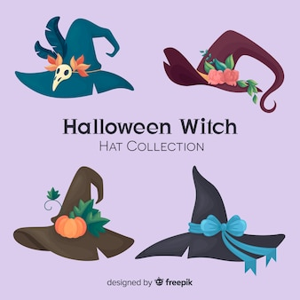 Collection de chapeau de sorcière d'halloween