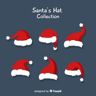 Collection de chapeaux du père noël